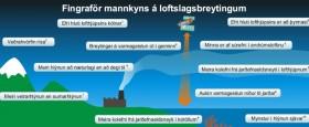 Kafli úr leiðarvísinum - um merkjanleg áhrif mannkyns á loftslag..