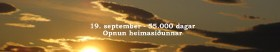 Formleg opnun heimasíðunnar Loftslag.is verður þann 19. september, þegar 55.000 dagar eru frá fæðingu Svante Arrhenius, verndara síðunnar.