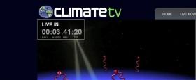 Í nótt (aðfaranótt 26. mars) klukkan 1:00 verður bein netútsending frá nýrri sjónvarpstöð sem kallar sig Climate TV..